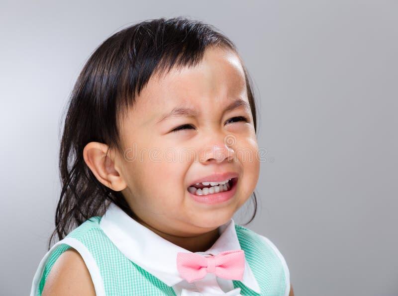 Κραυγή κοριτσάκι στοκ εικόνες