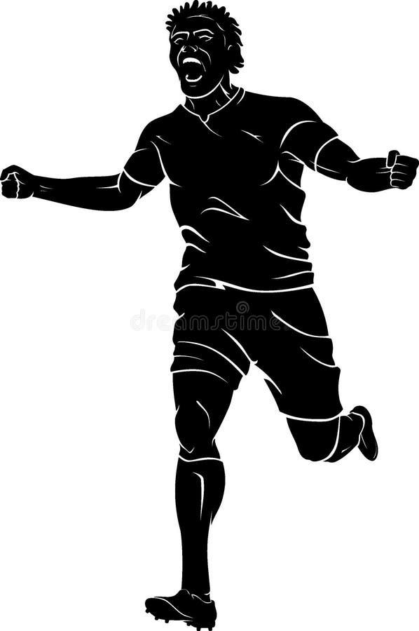 Κραυγή στόχου ποδοσφαίρου διανυσματική απεικόνιση