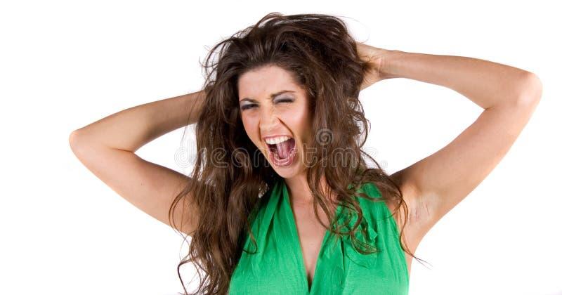 Download κραυγή στοκ εικόνα. εικόνα από το, κοίταγμα, γυναίκα, οργή - 1548825