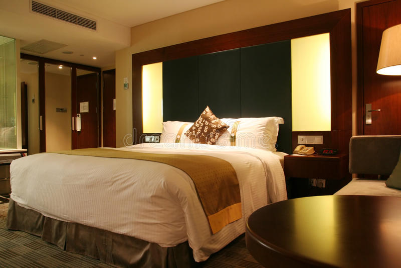 Κρεβατοκάμαρα ξενοδοχείων στοκ φωτογραφίες