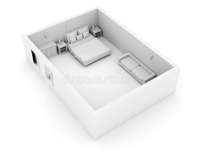 Download κρεβατοκάμαρα απεικόνιση αποθεμάτων. εικονογραφία από κατασκευής - 13188545