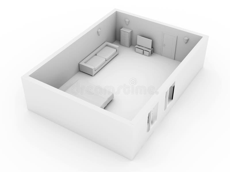 Download κρεβατοκάμαρα απεικόνιση αποθεμάτων. εικονογραφία από πραγματικός - 13188548
