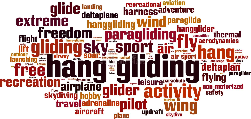 Κρεμάστε το γλιστρώντας σύννεφο λέξης ελεύθερη απεικόνιση δικαιώματος