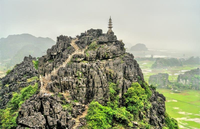 Κρεμάστε Mua την άποψη σε Trang, Βιετνάμ στοκ φωτογραφίες