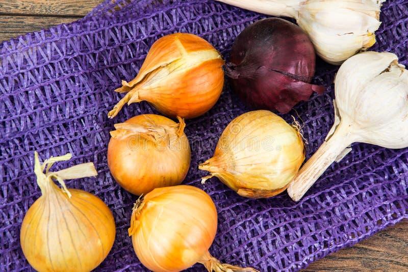 Κρεμμύδι σε ένα πλέγμα στοκ φωτογραφία με δικαίωμα ελεύθερης χρήσης