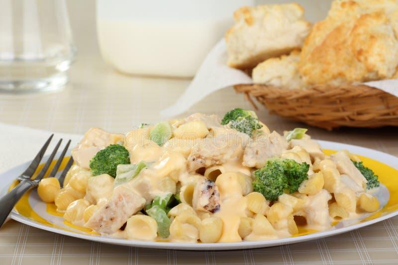 Κρεμώδη κοτόπουλο και Macaroni στοκ φωτογραφίες με δικαίωμα ελεύθερης χρήσης