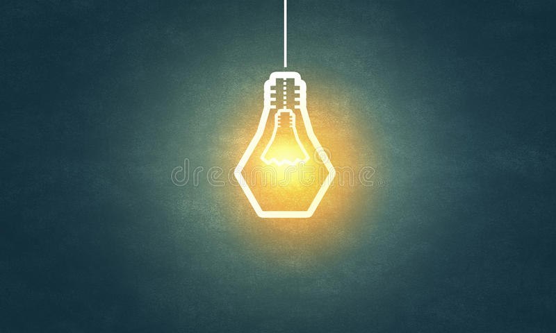 Κρεμώντας λάμπα φωτός στοκ εικόνες