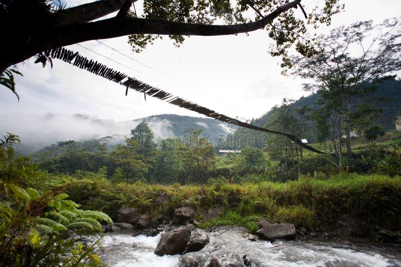 κρεμώντας αναστολή γεφυ στοκ φωτογραφία με δικαίωμα ελεύθερης χρήσης