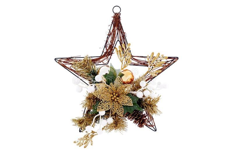 Κρεμώντας αστέρι Χριστουγέννων στοκ εικόνες