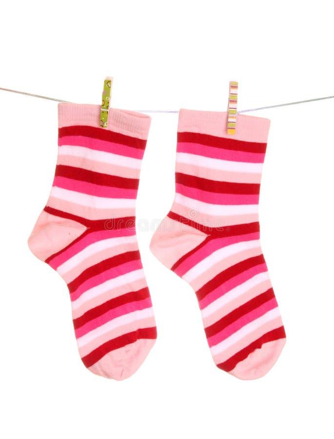κρεμώντας κάλτσες στοκ φωτογραφία με δικαίωμα ελεύθερης χρήσης