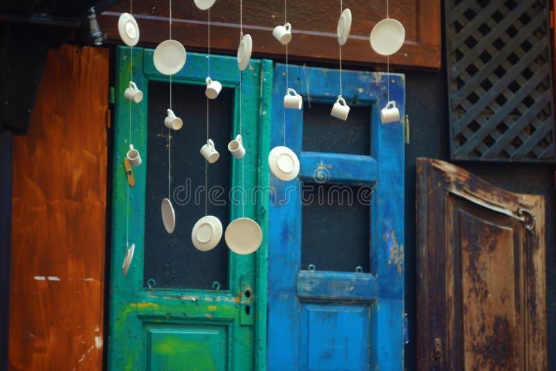 Κρεμώντας ντεκόρ πιάτων στοκ εικόνες με δικαίωμα ελεύθερης χρήσης