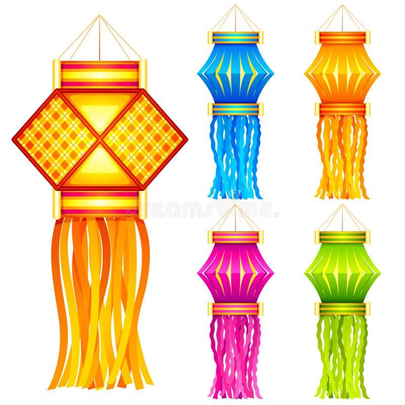 Κρεμώντας φανάρι Diwali απεικόνιση αποθεμάτων