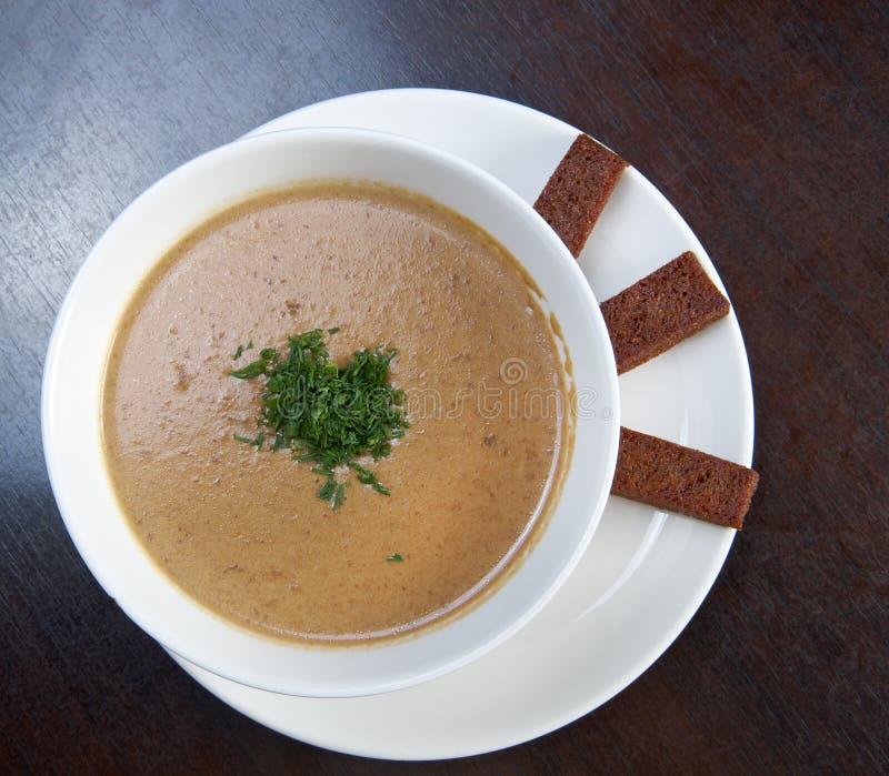 κρεμώδης σούπα μανιταριών στοκ φωτογραφία με δικαίωμα ελεύθερης χρήσης