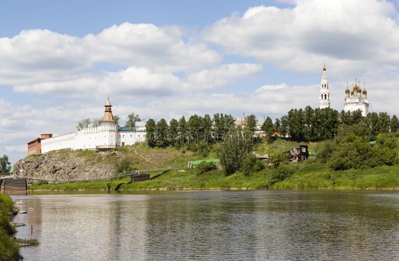 Κρεμλίνο και η γέφυρα Verkhoturye Ρωσία στοκ φωτογραφίες