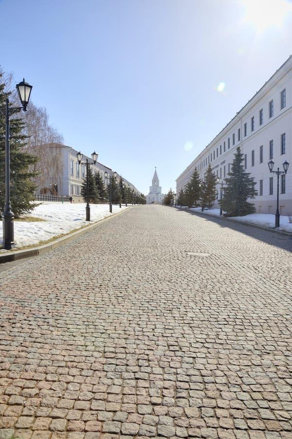 Κρεμλίνο της πόλης Kazan μέχρι μια ηλιόλουστη ημέρα στοκ εικόνες