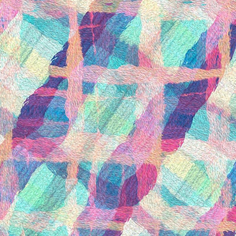 Κρητιδογραφιών χρώματος αφηρημένο κινήσεων υπόβαθρο ελαιοχρωμάτων τέχνης ψηφιακό διανυσματική απεικόνιση