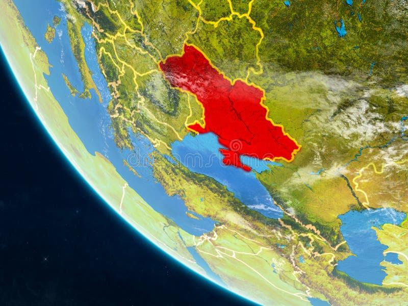 Κριμαία από το διάστημα στη γη απεικόνιση αποθεμάτων
