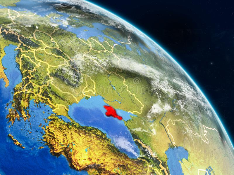 Κριμαία από το διάστημα ελεύθερη απεικόνιση δικαιώματος