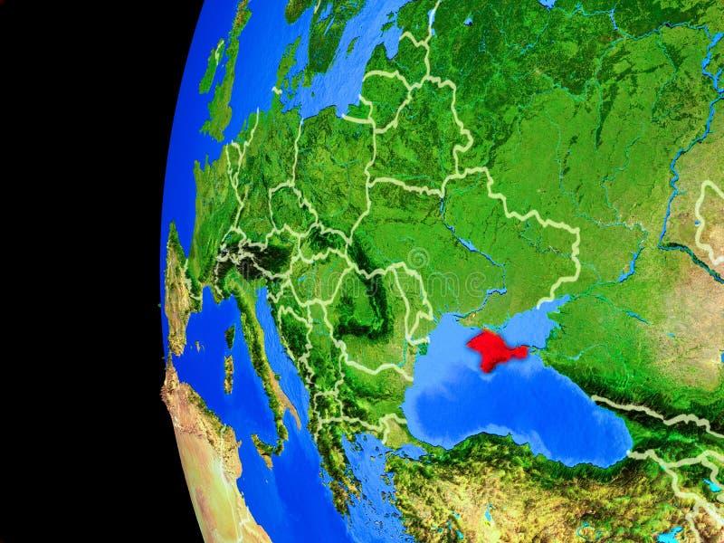 Κριμαία από το διάστημα διανυσματική απεικόνιση