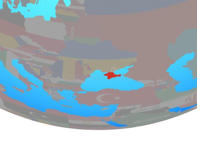 Κριμαία με τη σημαία στη σφαίρα διανυσματική απεικόνιση