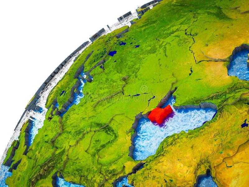Κριμαία στην τρισδιάστατη γη ελεύθερη απεικόνιση δικαιώματος