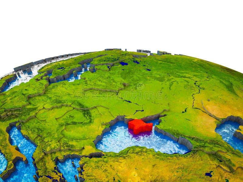Κριμαία στην τρισδιάστατη γη απεικόνιση αποθεμάτων