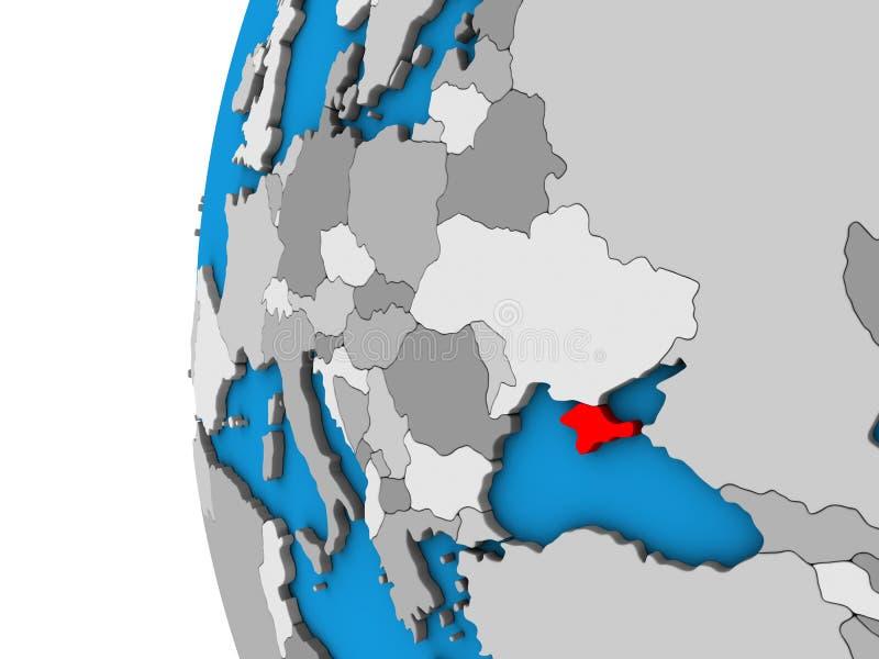 Κριμαία στην τρισδιάστατη σφαίρα απεικόνιση αποθεμάτων