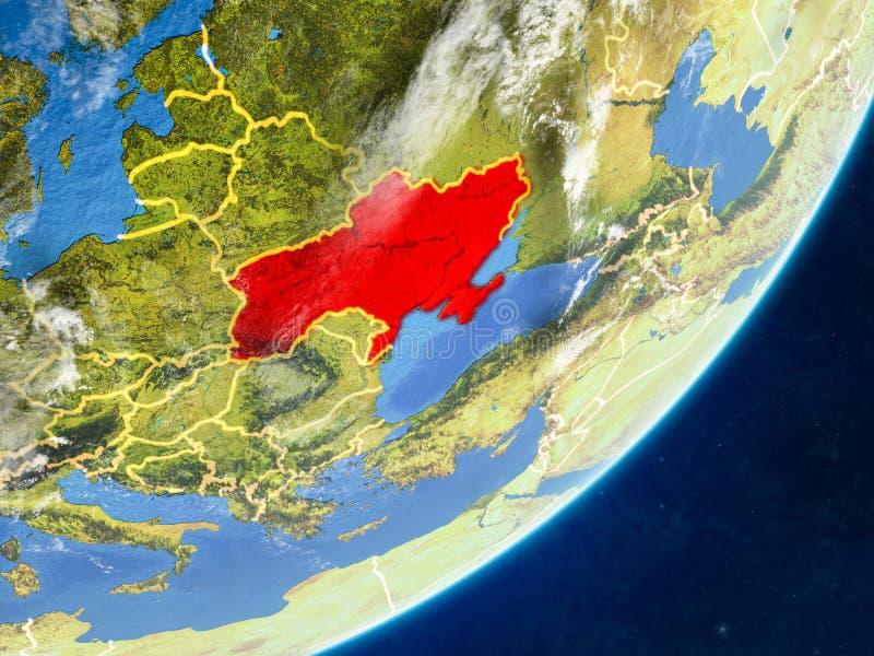 Κριμαία στη γη από το διάστημα ελεύθερη απεικόνιση δικαιώματος