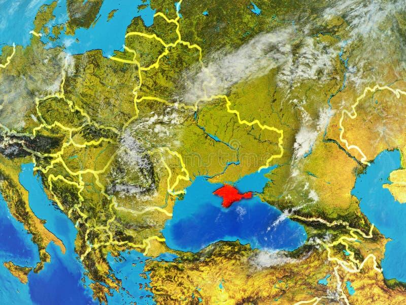 Κριμαία στη γη από το διάστημα απεικόνιση αποθεμάτων