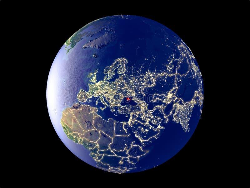 Κριμαία στη γη από το διάστημα διανυσματική απεικόνιση