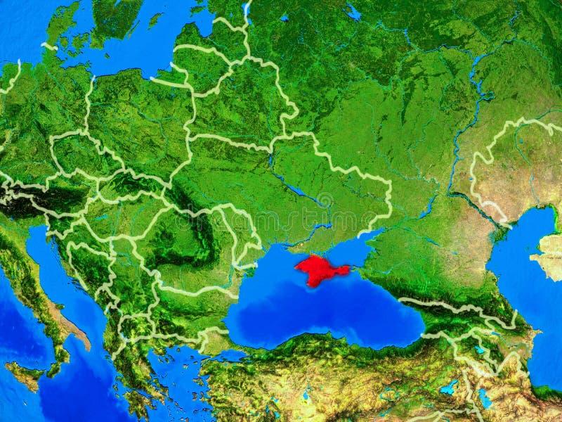 Κριμαία στη γη με τα σύνορα απεικόνιση αποθεμάτων