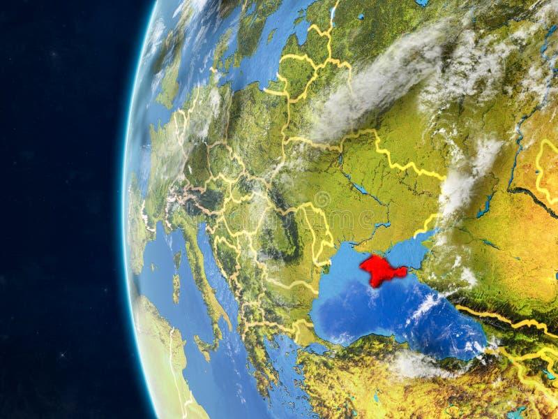 Κριμαία στη σφαίρα από το διάστημα απεικόνιση αποθεμάτων
