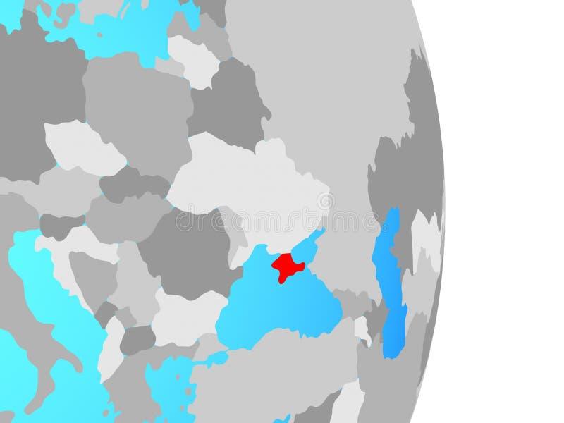 Κριμαία στη σφαίρα απεικόνιση αποθεμάτων