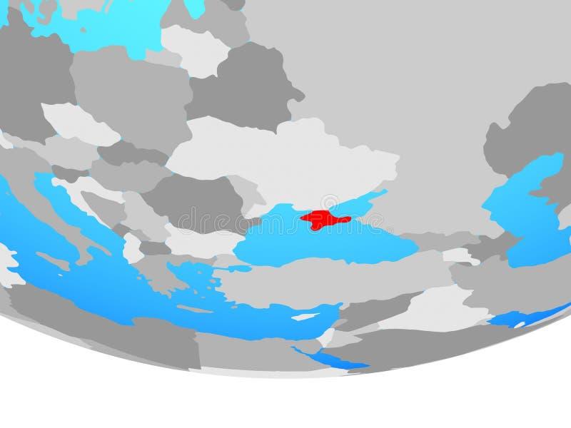 Κριμαία στη σφαίρα διανυσματική απεικόνιση