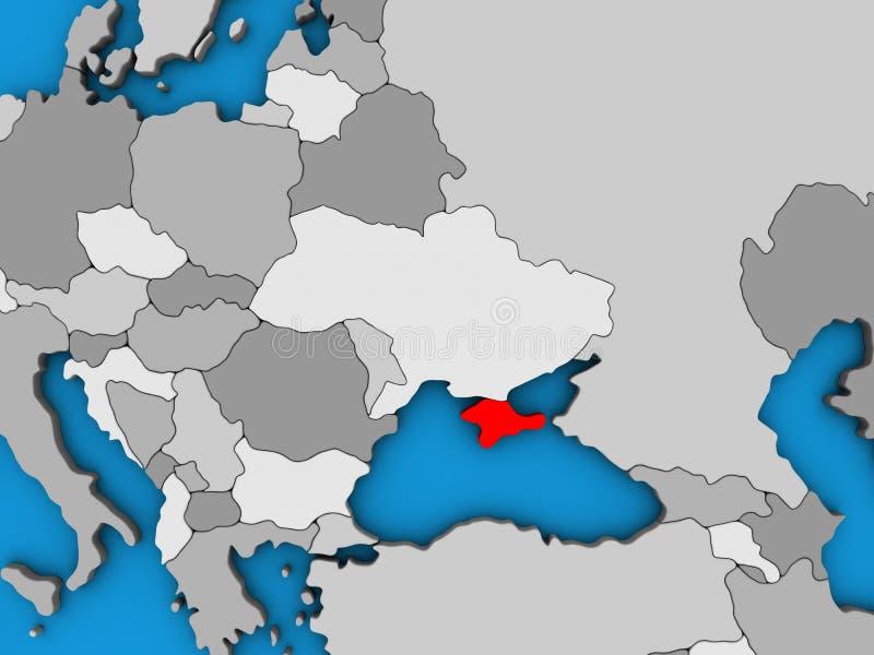 Κριμαία στον τρισδιάστατο χάρτη απεικόνιση αποθεμάτων