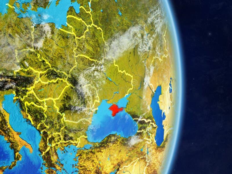 Κριμαία στο πλανήτη Γη διανυσματική απεικόνιση