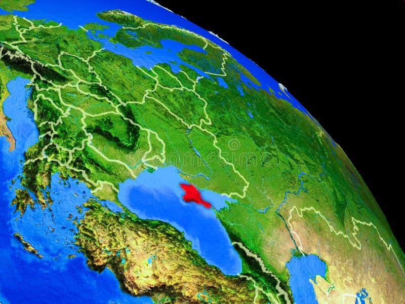 Κριμαία στο πλανήτη Γη ελεύθερη απεικόνιση δικαιώματος