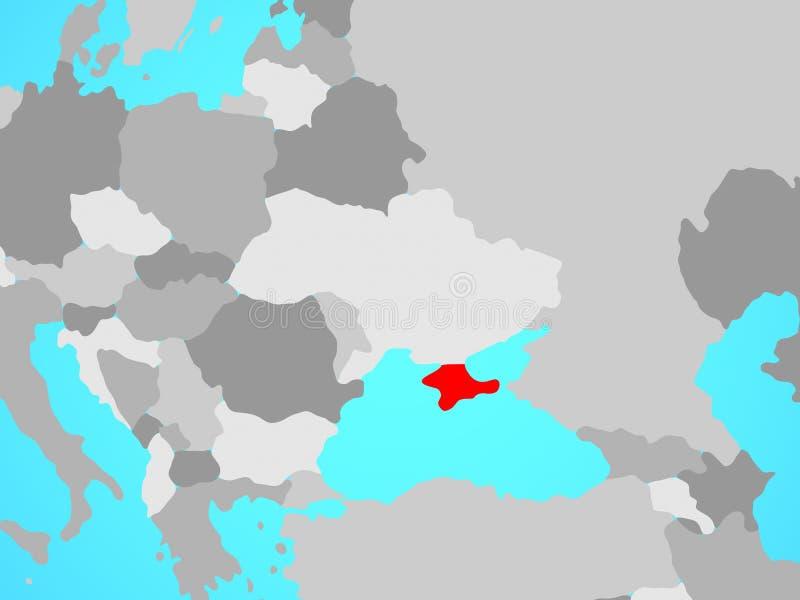 Κριμαία στο χάρτη ελεύθερη απεικόνιση δικαιώματος