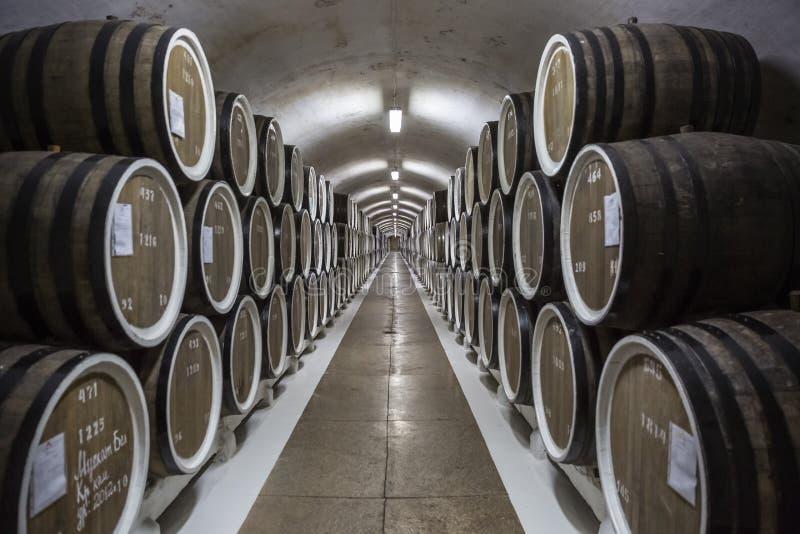 Κριμαία Συμμετρία στο κελάρι κρασιού στοκ εικόνες με δικαίωμα ελεύθερης χρήσης