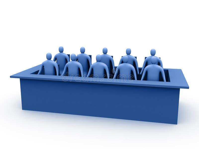 κριτική επιτροπή 3 διανυσματική απεικόνιση