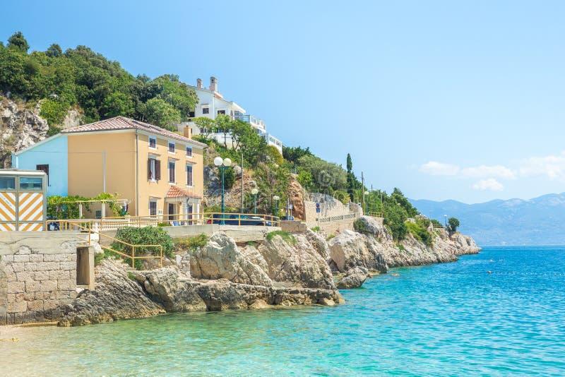 Κροατία, θάλασσα και βάρκες Φωτογραφία ταξιδιού Λαοί και δέντρα στοκ εικόνες