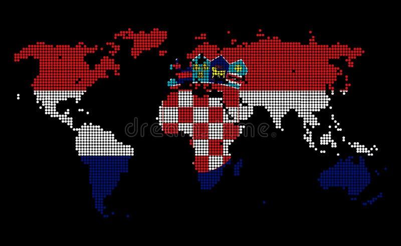 Κροατία διανυσματική απεικόνιση