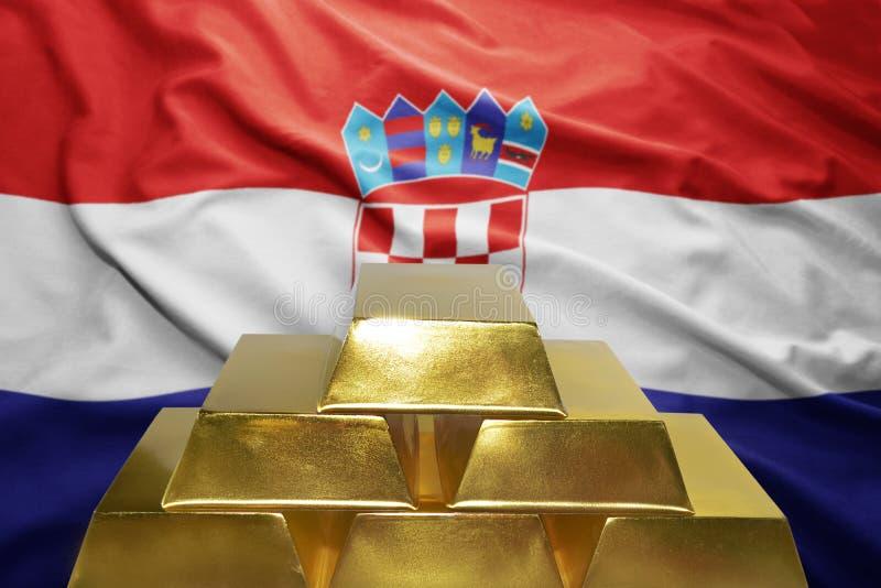 Κροατικές χρυσές επιφυλάξεις στοκ φωτογραφία με δικαίωμα ελεύθερης χρήσης