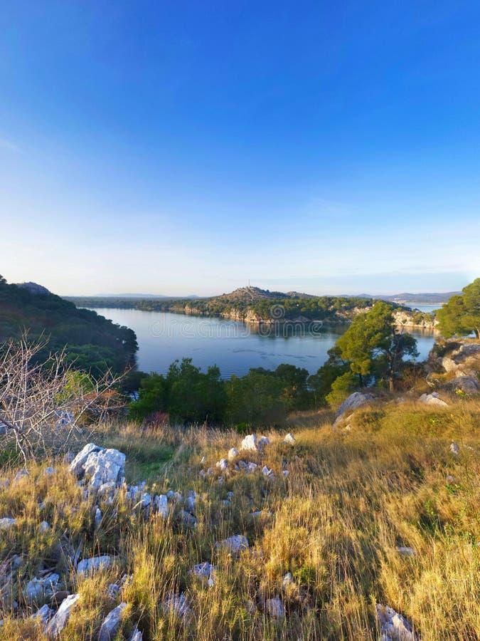 Κροατική ακτή στοκ φωτογραφία