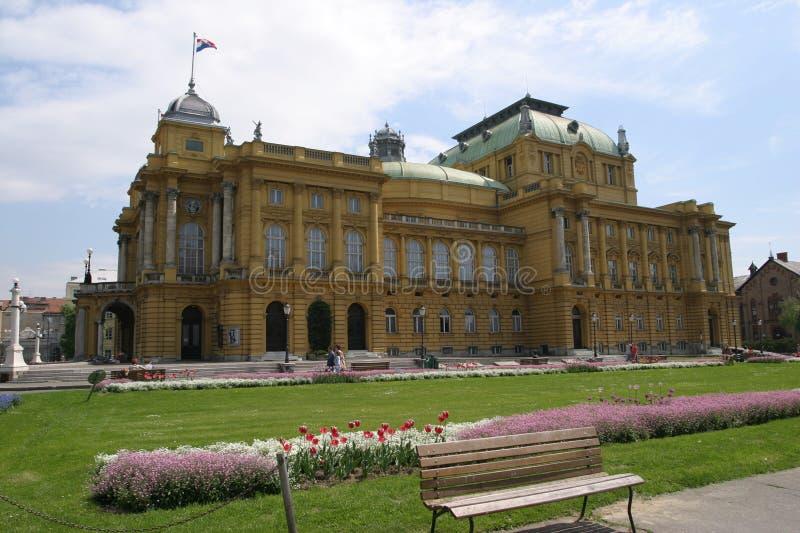 κροατικό εθνικό θέατρο Ζά&gamm στοκ φωτογραφία με δικαίωμα ελεύθερης χρήσης