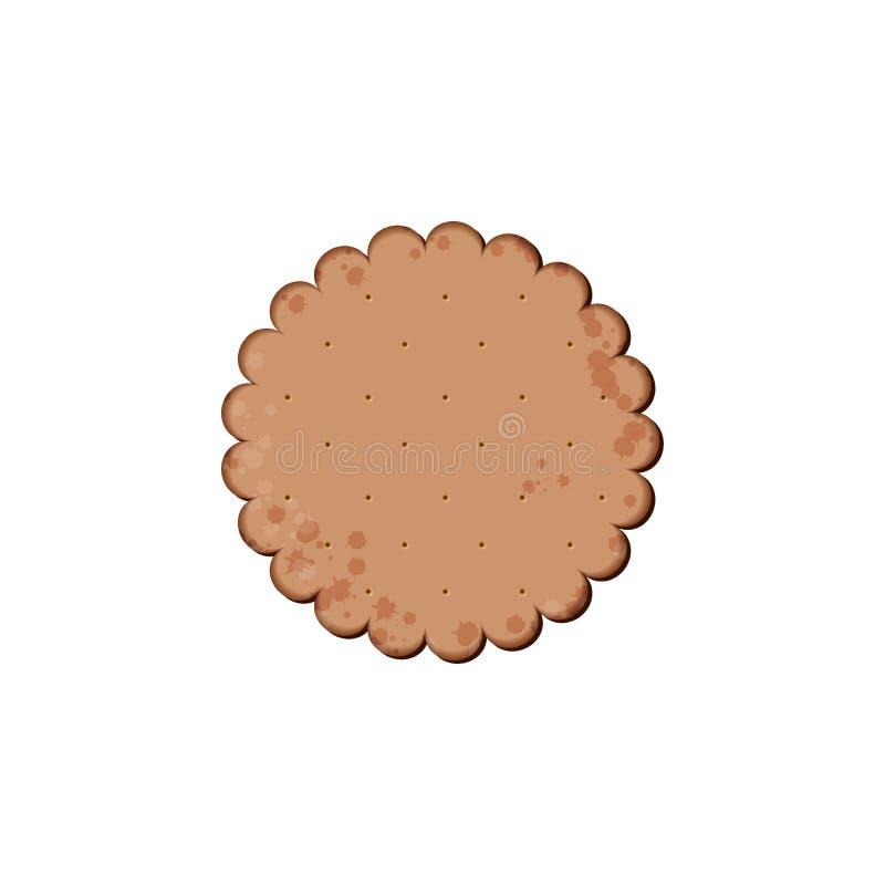 Κροτίδα σοκολάτας υγείας Απομονωμένο μπισκότο διανυσματική απεικόνιση