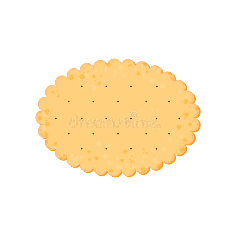 Κροτίδα υγείας Απομονωμένο μπισκότο: έλλειψη r απεικόνιση αποθεμάτων