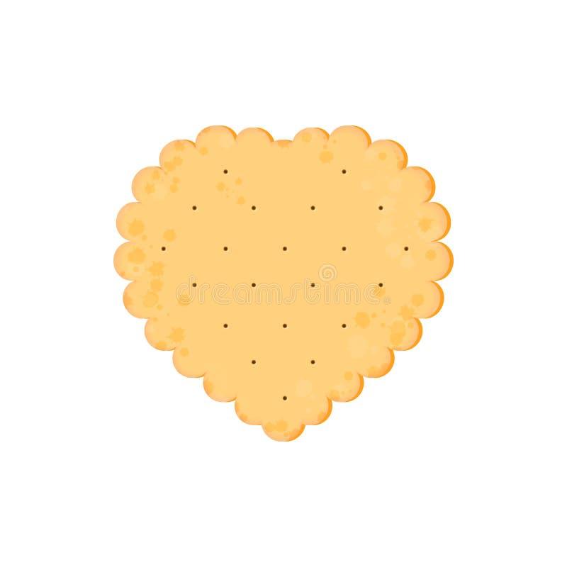 Κροτίδα υγείας Απομονωμένο μπισκότο: καρδιά r ελεύθερη απεικόνιση δικαιώματος