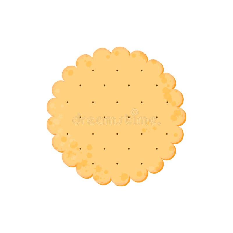 Κροτίδα υγείας Απομονωμένο μπισκότο: κύκλος r απεικόνιση αποθεμάτων