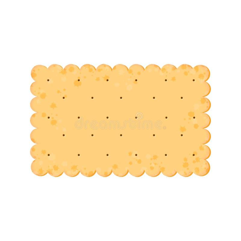 Κροτίδα υγείας Απομονωμένο μπισκότο: ορθογώνιο r διανυσματική απεικόνιση
